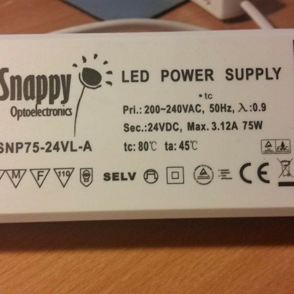 LED-LIGHTBOX-TRANSFORMERMAXILUX-PSU-SNP75-24VL-Power-Supply-24VDC-312A-75W-303043594570
