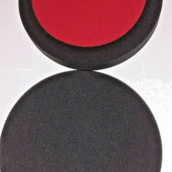 COMPOUND-POLISHING-BUFFING-HEADS-BLACK-VELCRO-160MM-X-30MM-SOFT-X-2-293562087244