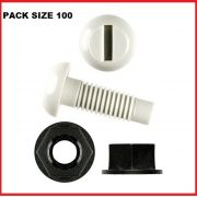 NUMBER-PLATE-SCREWS-AND-NUTS-PLASTIC-100PKT-WHITE-303523519627